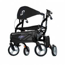 Airgo Fusion F23 Side-Folding Rollator & Transport Chair -700-932-For Tall