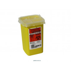 SharpSafety Sharps Container Phlebotomy, Yellow 1 Quart SKU:8906 - case of 100