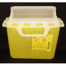 300974 - 5.1 L BD™ next generation sharps collector. Yellow - PACK OF 6