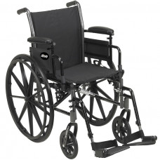 "Drive-Cruiser III Light Weight Wheelchair with Flip Back Removable Arms-20"" -K320DDA-ELR"