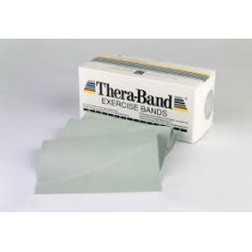 Thera-Band Resistive Latex Exercise Bands 6 Yard Dispenser Box Silver / Super Heavy