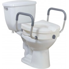 Drive-Raised Toilet Seat with Removable Padded Arms-12008KDR