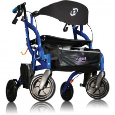 "Airgo Fusion Side-Folding Rollator & Transport Chair- standard 20"" -Blue"