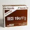 "BD 305187 PrecisionGlide Needle, 19G x 1 1/2"", Regular Bevel, Sterile, 400/ box"
