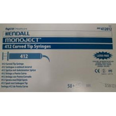 Monoject 412 Curved Tip Syringes #412012  50/box