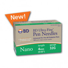 BD Ultra-Fine Nano Pen Needle - 32 G 4 mm  12 BOXES  100 /per b