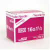 "BD 305198 PrecisionGlide Needle, 16G x 1 1/2"" Regular Bevel, Sterile, 100/BX"