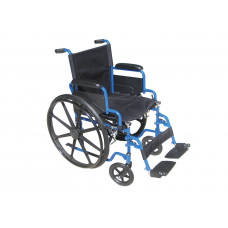 Drive medical-Blue Streak Wheelchair with Flip Back Desk Arms-BLS18FBD