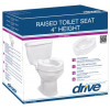"Raised Toilet Seat with Lock and Lid -Fit Regular Toilet only 4"" -12065"