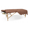 CHOCOLATE -Flannel 3pc Massage Table Sheet Set