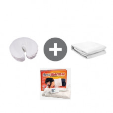 Combo Pack For 1032 Heating Pad, Flannel Flat Sheet, Flannel Face Rest Covers