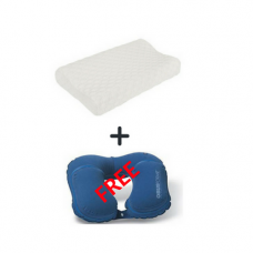 Obus Forme-Comfort Sleep Contoured Pillow-PL-COMFORT-SLCT and a Free Travel Pillow