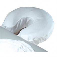 Cotton Flannel Fitted Face Rest Covers 1 each -white color