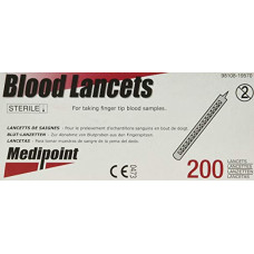 STAINLESS STEEL BLOOD LANCET DISPOSABLE STERILE BOX OF 200