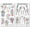 TheTrigger Points I and II Laminated Chart/Posters