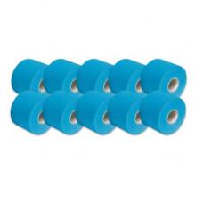 SpiderTech Made in Canada Kinesiology Therapeutic Sports Tape Blue, Case of 12 Rolls