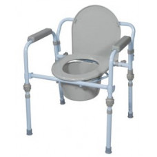 Drive Medical Folding Steel Commode RTL 11148KDR