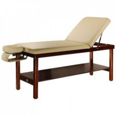 Wooden Stationary Massage Table- Cream Color only-2 part