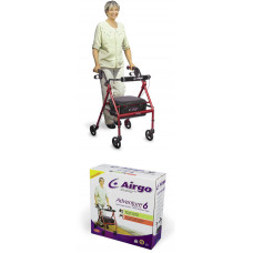 Airgo Adventure 6 Lightweight Rollator-Cranberry