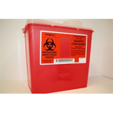-Sharps Container  8 QT/ Medium Red Monoject 8881-676285 -6 pack