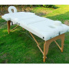 "3""Padding  Portable Massage Table  Cream White+Side Arm Rest"