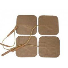 "4 Packs Tan Color of 4 (16 Elec.Total) Square  2""x2""  Electrode Tens Pads"