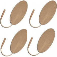 2X4 Oval-Tan Cloth Electrodes 4/pack-16 Electrodes