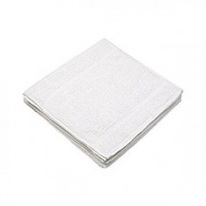 White Towel -100% Soft Cotton Washcloths Face Towels 13x13 in. 12-Pack